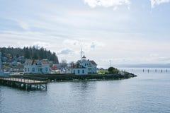 Mukilteo latarnia morska w stan washington obrazy royalty free