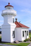 Mukilteo lighthouse 1. A historic lighthouse on the inner waterway of the northwest. about 40 miles north of seattle, washington. this is said to be the spot Royalty Free Stock Photo