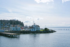 Mukilteo Lighthouse in Washington State royalty free stock images
