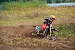 Mukimkhanov Eldar 784. SERPUKHOV, RUSSIA - OCTOBER 7, 2017: Mukimkhanov El`dar 784, Class Juniors absolute, in the 4 stage MX series, the Red Wings Cup 2017 royalty free stock photography