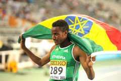 Muktar Edris dell'Etiopia Fotografia Stock
