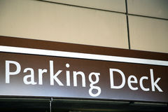Mukti level parking deck sign Stock Photography