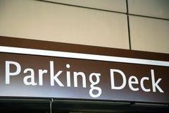 Mukti level parking deck sign Stock Photography