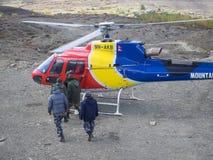 Muktinath, Νεπάλ - 17.2014 Μαρτίου: Επιχείρηση διάσωσης Νεπάλ Στοκ Εικόνα