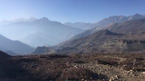 Muktinath dolina w mustanga okręgu, Nepal w zimie zbiory