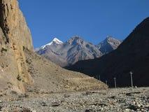 Muktinath Himal, mountain range Royalty Free Stock Image