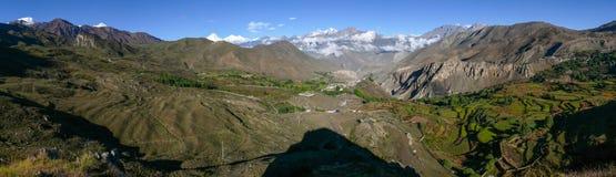 Muktinath landscape panorama, Nepal Royalty Free Stock Images