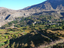 Muktinath landskap, Nepal arkivbild