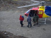 Muktinath, Nepal - março 17,2014: Operação de salvamento Nepal Imagem de Stock