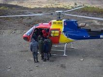 Muktinath, Nepal - março 17,2014: Operação de salvamento Nepal Fotos de Stock