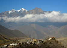 Muktinath village, Nepal. Annapurna circuit trek Stock Photography
