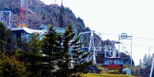Mukumbari-Drahtseilbahn-Systemkabine in Venezuela lizenzfreie stockfotografie