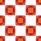 Muladhara - chakra ρίζας Το σύμβολο του πρώτου chakra Seamles Στοκ Εικόνα