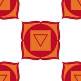 Muladhara - chakra de la raíz El símbolo del primer chakra Vector Imagen de archivo