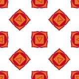 Muladhara - chakra de la raíz El símbolo del primer chakra Vector Imagen de archivo libre de regalías