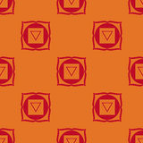 Muladhara - chakra de la raíz El símbolo del primer chakra Vector Foto de archivo libre de regalías