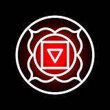 Muladhara chakra icon Stock Photography