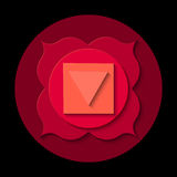 Muladhara chakra icon Stock Photo