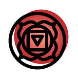 Muladhara chakra icon Royalty Free Stock Photo