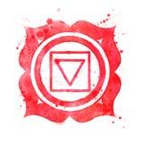 Muladhara chakra symbol. Royalty Free Stock Photography