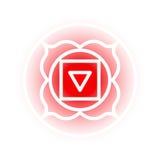 Muladhara chakrasymbol Fotografering för Bildbyråer