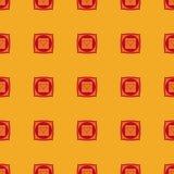 Muladhara - korzeniowy chakra Symbol pierwszy chakra wektor Obrazy Stock