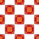 Muladhara - root chakra. The symbol of the first chakra. Seamles Stock Image