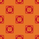Muladhara - root chakra. The symbol of the first chakra. Vector Royalty Free Stock Photo