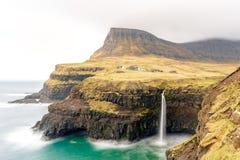 Mulafossur waterfall, Gasadalur, Vagar, the Faroe Islands