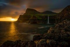 Mulafossur waterfall Stock Photos