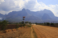 Mulanje Massif. The Mulanje Massif, also known as Mount Mulanje, is a large monadnock in southern Malawi only 65 km east of Blantyre, rising sharply from the royalty free stock photo
