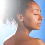 Mulatto beauty Stock Images