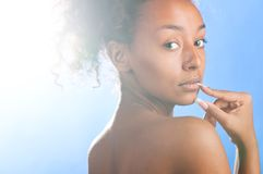 Mulatto beauty Royalty Free Stock Images