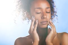 Mulatto beauty Royalty Free Stock Photos