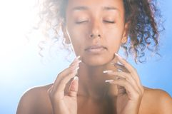 Mulatto beauty Stock Image