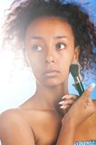 Mulatto beauty Stock Photography
