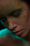 Mulatto girl with creative make-up Royalty Free Stock Image