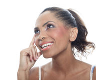 Mulatto person having a thinking situation Royalty Free Stock Photo
