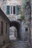 Mulazzo, старая деревня в Lunigiana стоковое фото rf