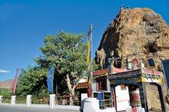 Mulbek Chamba и монастырь, Mulbek-Kargil, Ladakh, Индия Стоковая Фотография