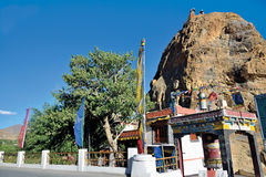 Mulbek Chamba et monastère, Mulbek-Kargil, Ladakh, Inde Photographie stock