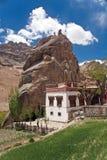 Mulbek Chamba et monastère, Mulbek-Kargil, Ladakh, Inde Images libres de droits