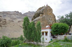 Mulbekh monastery in Ladakh, India Stock Photography