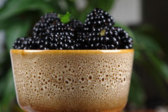 Mulberries in mug Royalty Free Stock Photography