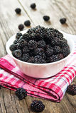 Mulberry berries in a bowl Stock Photos