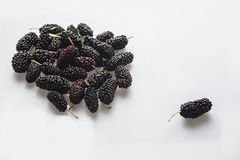 A mulberry  beside the group Royalty Free Stock Photo