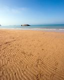 Mulberry Harbor. Wide Angle View of Mulberry Harbor on Normandy beach, France Royalty Free Stock Photography