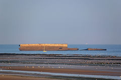 Mulberry Harbour Royalty Free Stock Photos