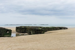 Mulberry Harbour Royalty Free Stock Image