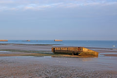 Mulberry Harbours Stock Photo
